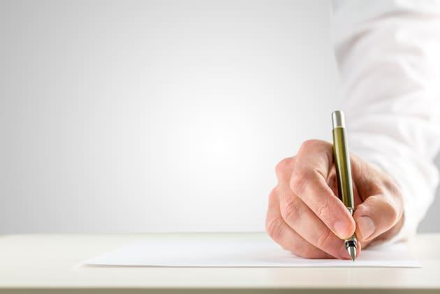 Процесс написания заявления