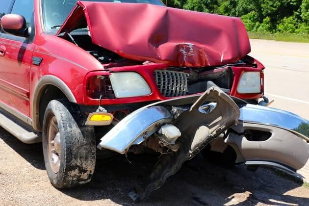 Автомобиль попавший в аварию