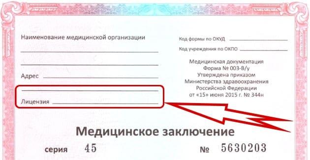 Мед справки для замены водительского удостоверения Москва Гагаринский