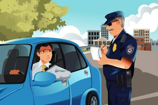 Назначение штрафа нарушителю ПДД