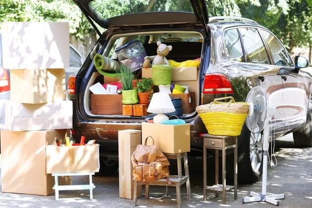 Фольксваген Туарег перегруженный багажом
